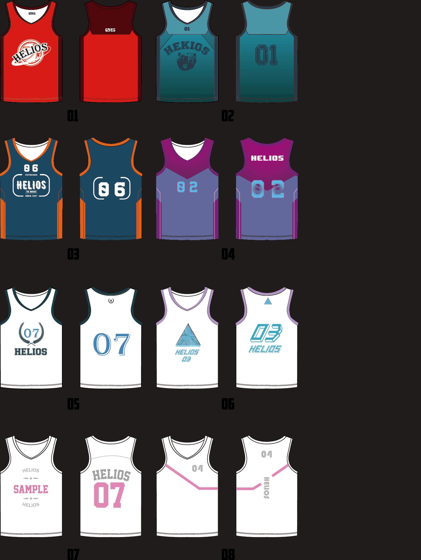籃球衫樣版參考