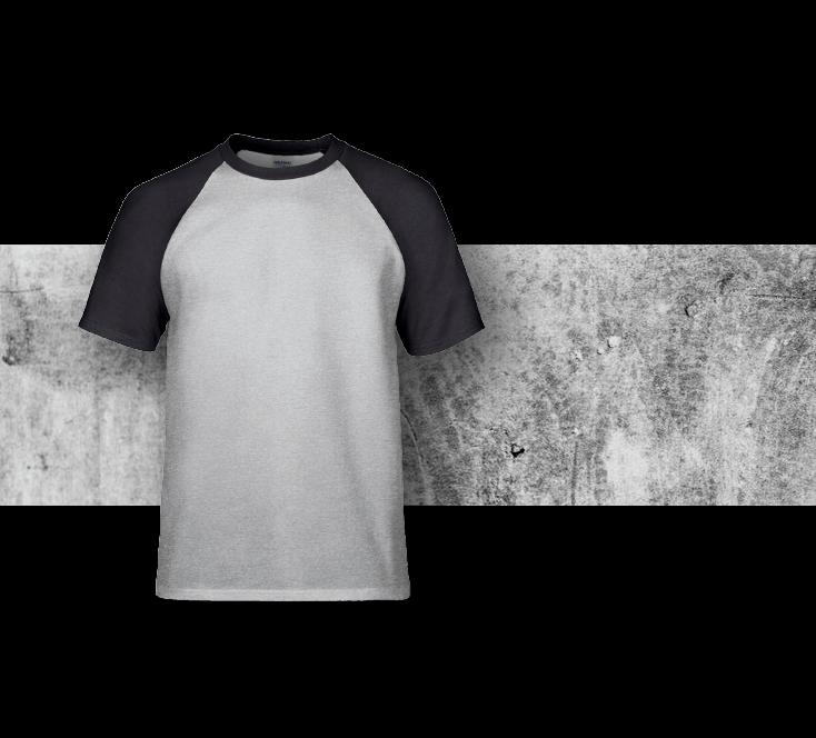 Gildan 牛角袖T shirt 實物參考圖