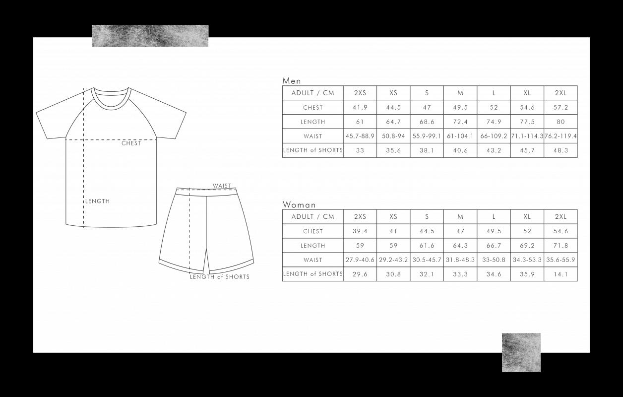 排球衫尺碼表