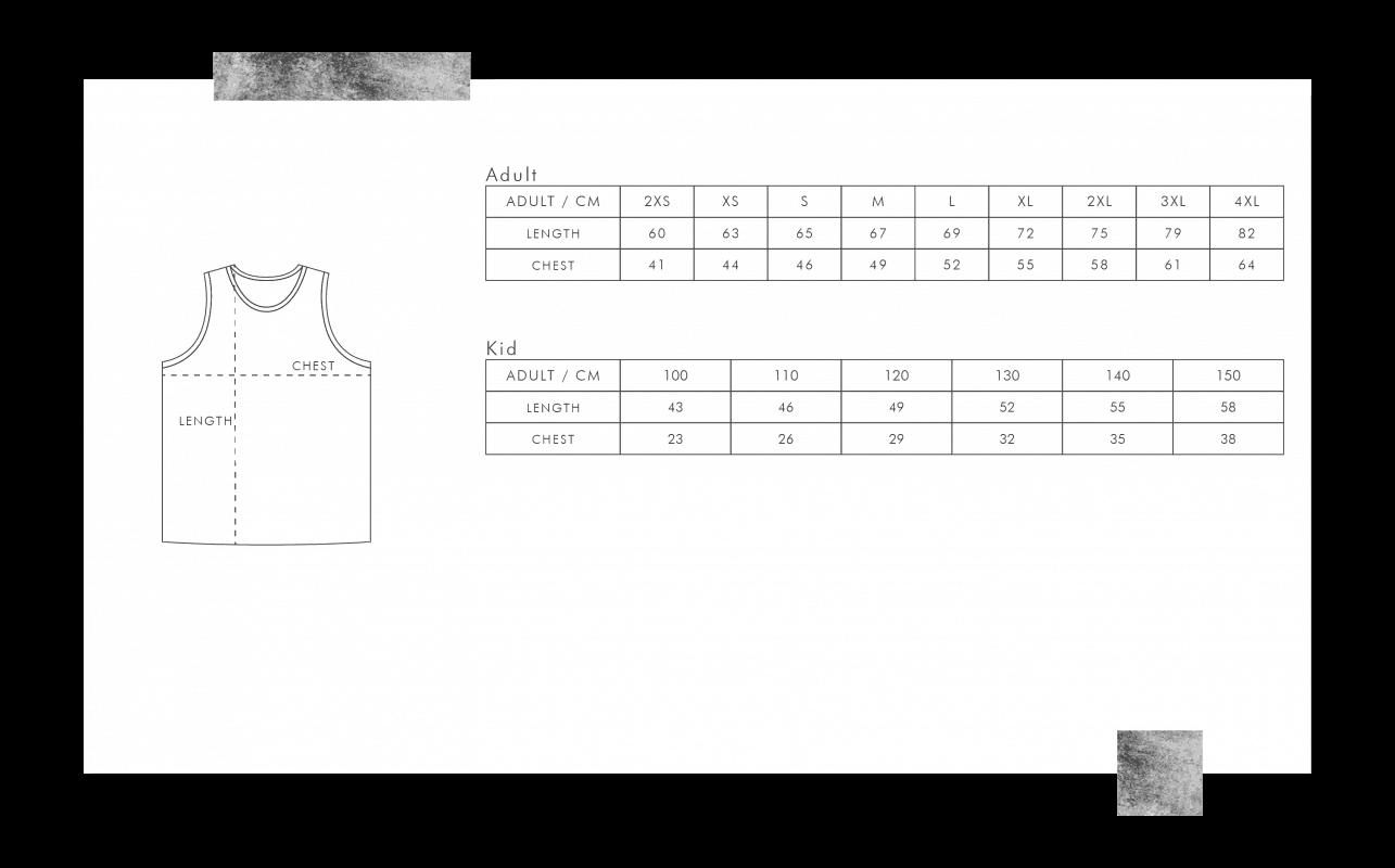 龍舟衫尺碼表