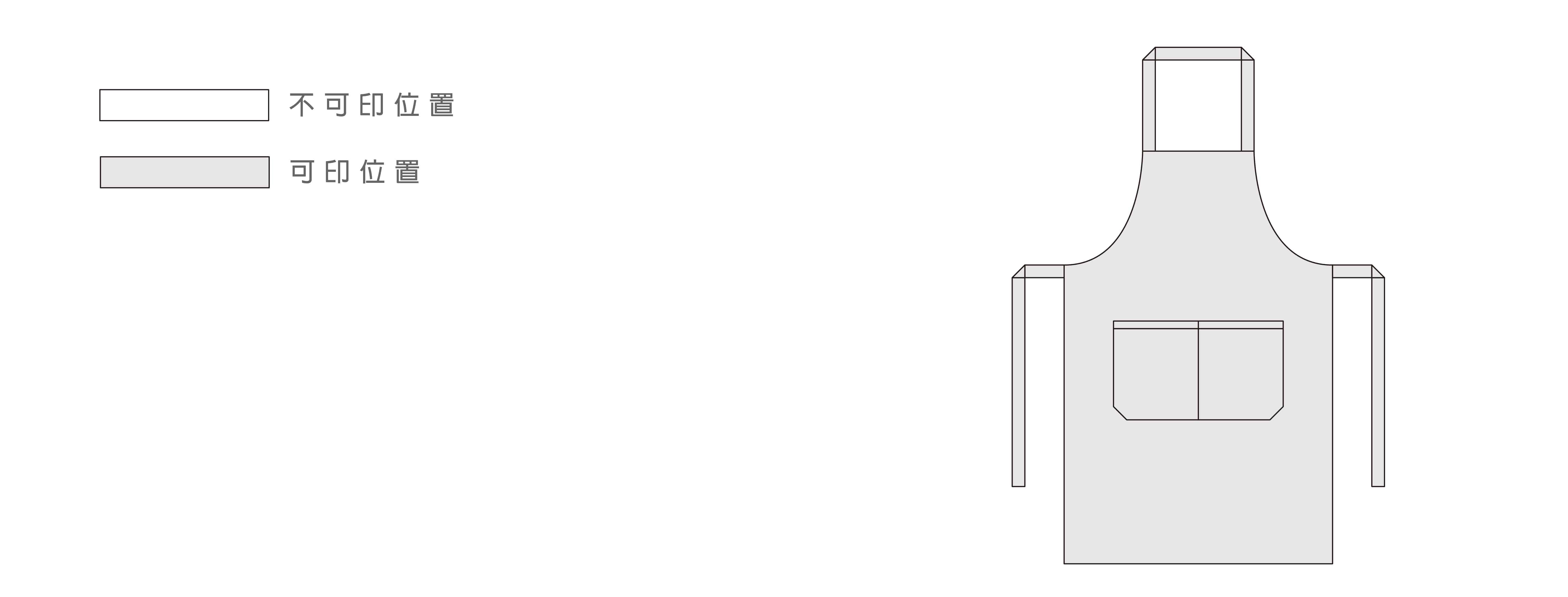 裁布製APRONS印圖位置