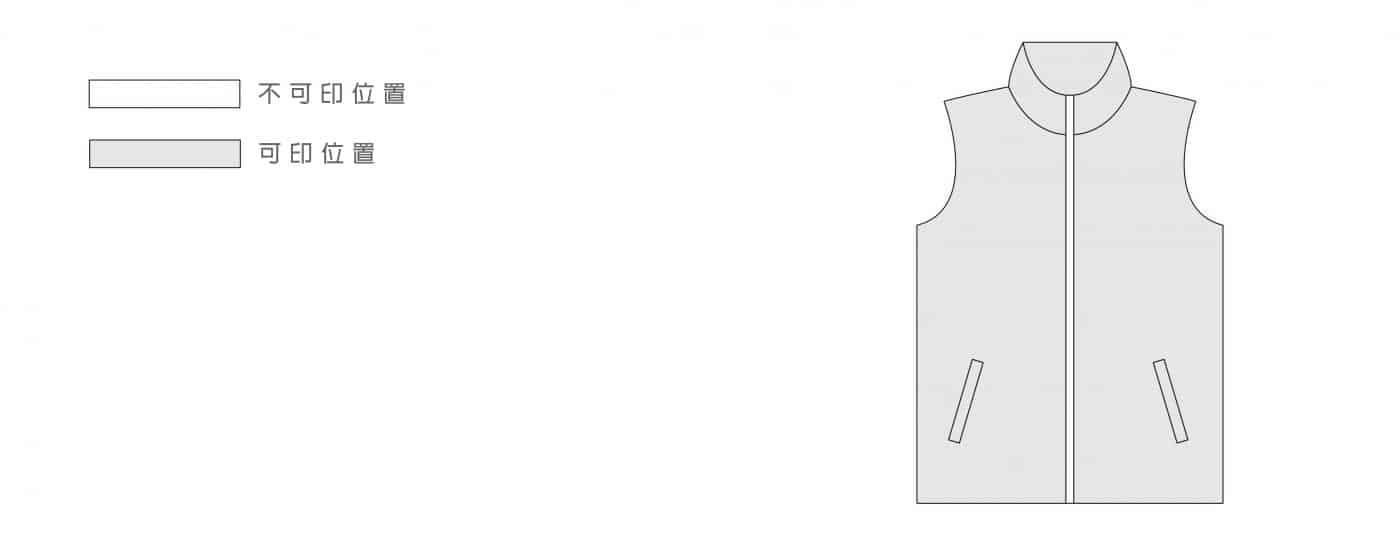 裁布製VEST印圖位置